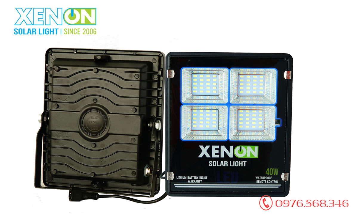 Đèn pha Xenon X40W năng lượng mặt trời